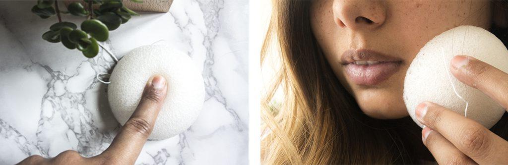 Nettoyage du visage avec l'éponge konjac Sephora