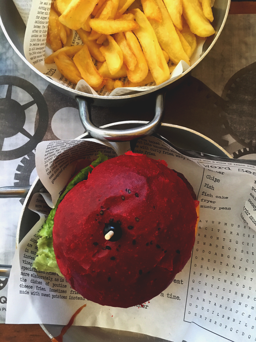 Fabrique red hot chili burger