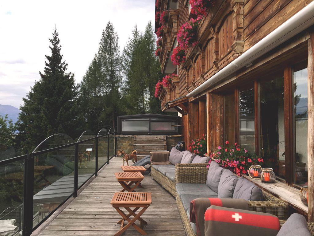 Terrase de l'hôtel le Grand Chalet