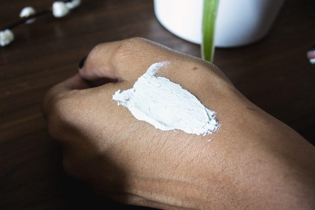 Texture du masque Sephora à l'argile