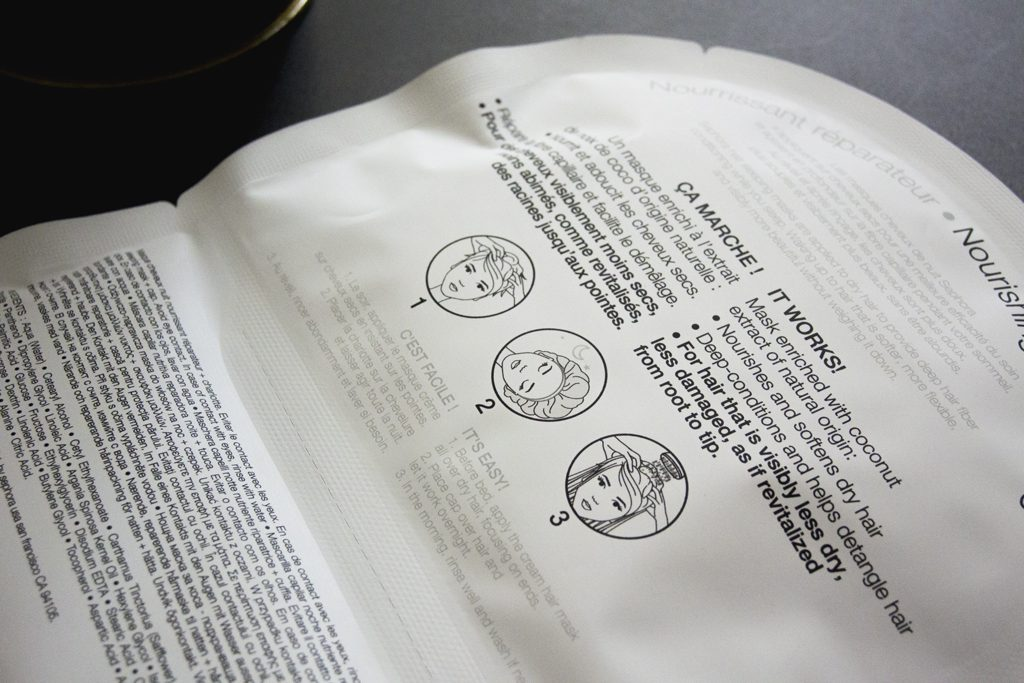 Instructions sleeping mask