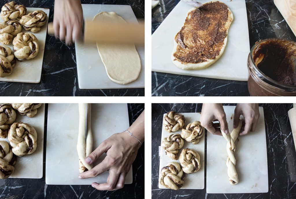 Façonnage des chocolate knots