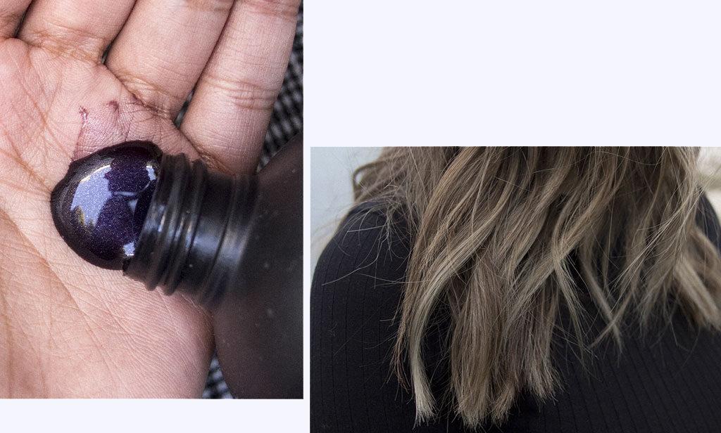 Texture et couleur du smoky shampoo de Bleach London