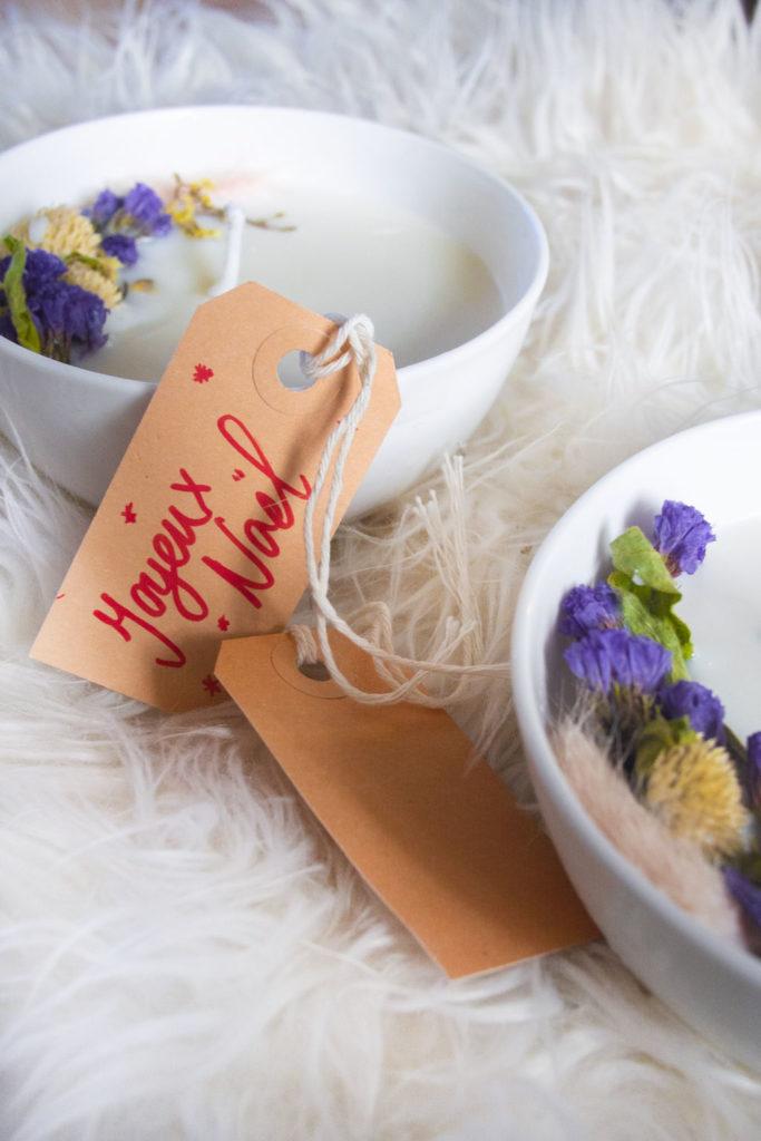 Bougie florale à la cire de soja