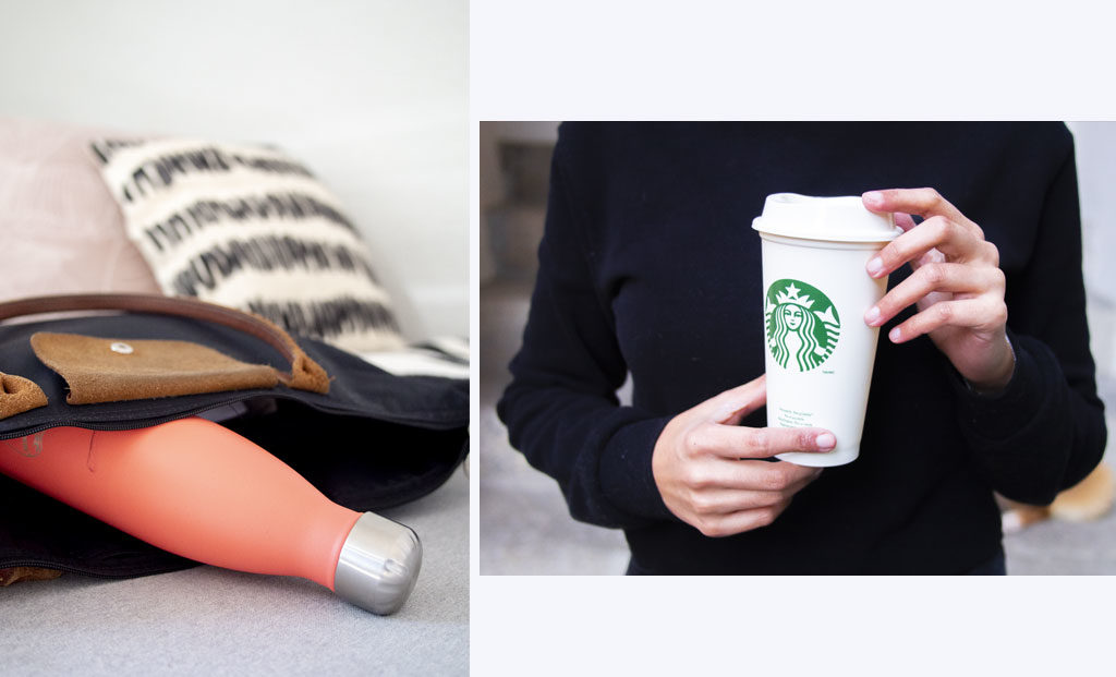 Chilly's Bottle & Starbucks réutilisable cup
