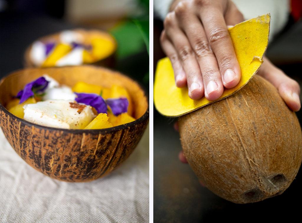 Poncez la noix de coco