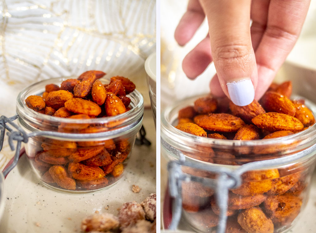 Spicy chili almonds