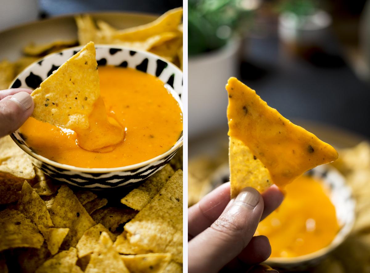 Sauce cheddar maison (nachos)