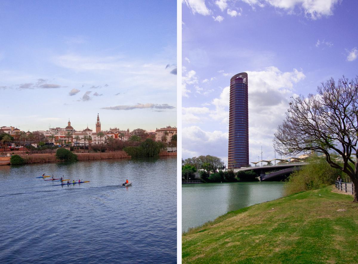 Guadalquivir et tour de Séville