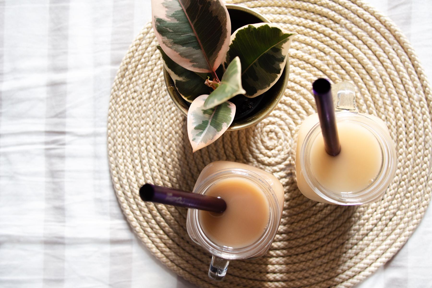 2 idées de bubble tea aux saveurs florales (thé vert jasmin & violette) 🌸