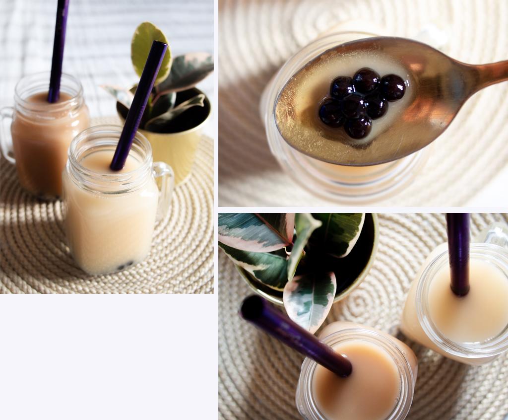 Bubble tea thé vert jasmin & thé noir violette