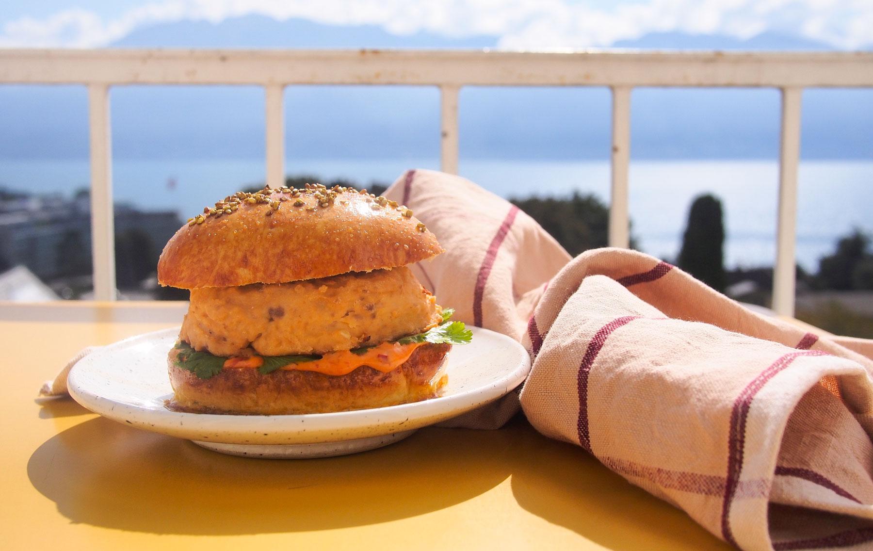 Burger de saumon (avec et sans mixeur)
